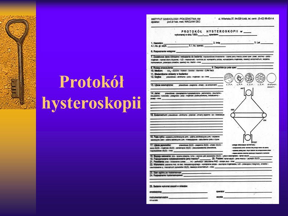 Protokół hysteroskopii