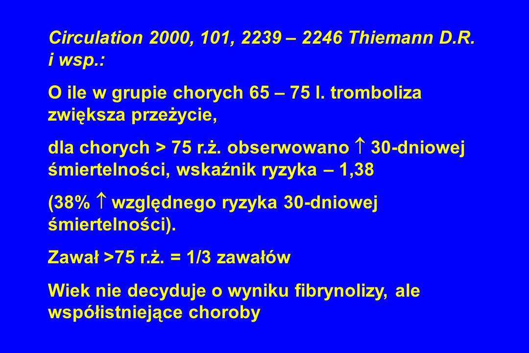 Circulation 2000, 101, 2239 – 2246 Thiemann D.R. i wsp.: