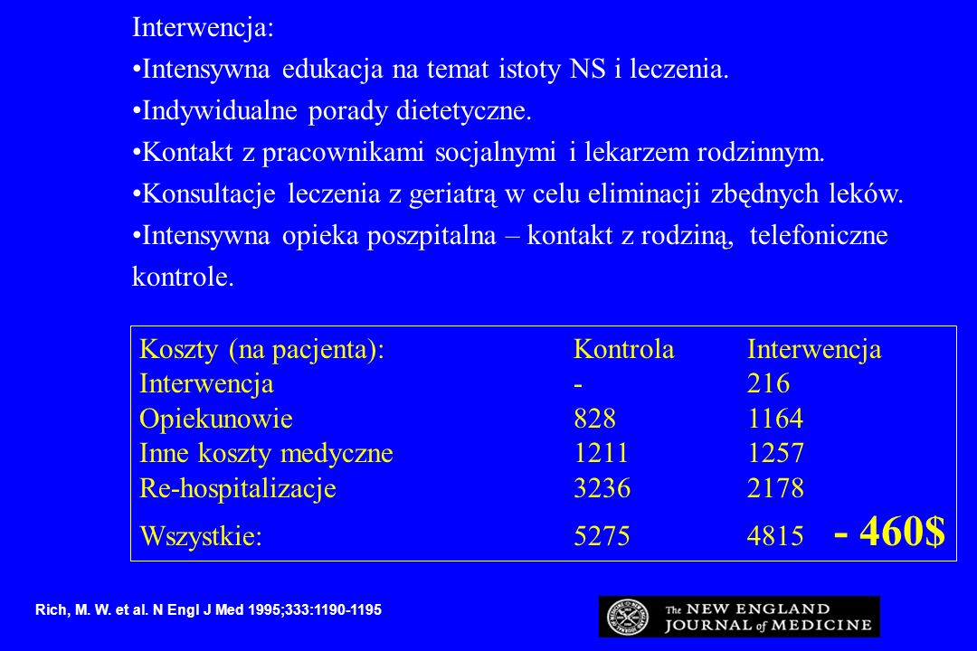 Intensywna edukacja na temat istoty NS i leczenia.