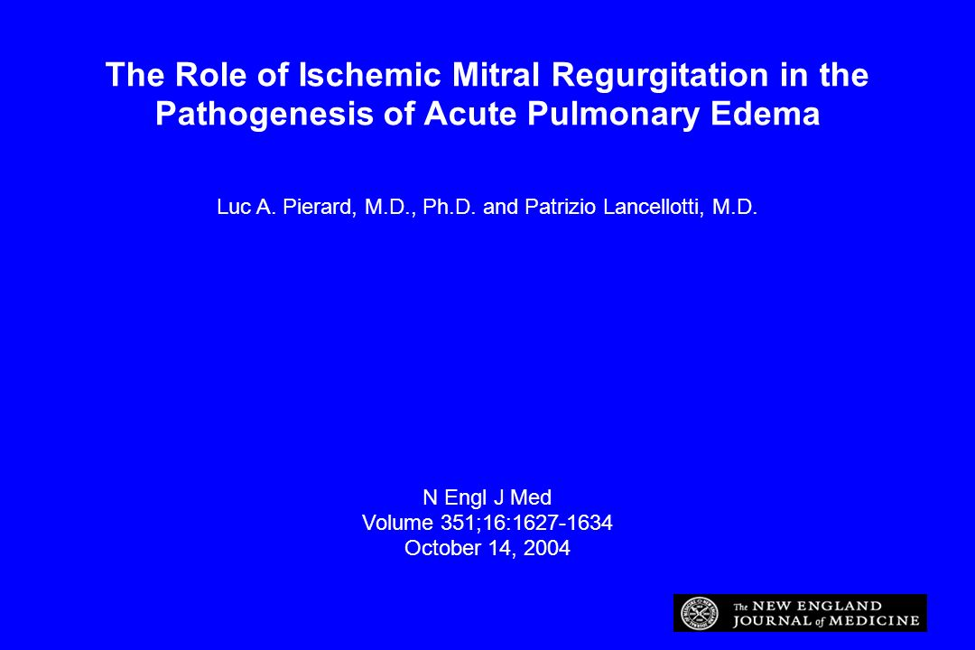Luc A. Pierard, M.D., Ph.D. and Patrizio Lancellotti, M.D.
