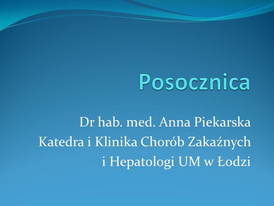 Posocznica Dr hab. med. Anna Piekarska