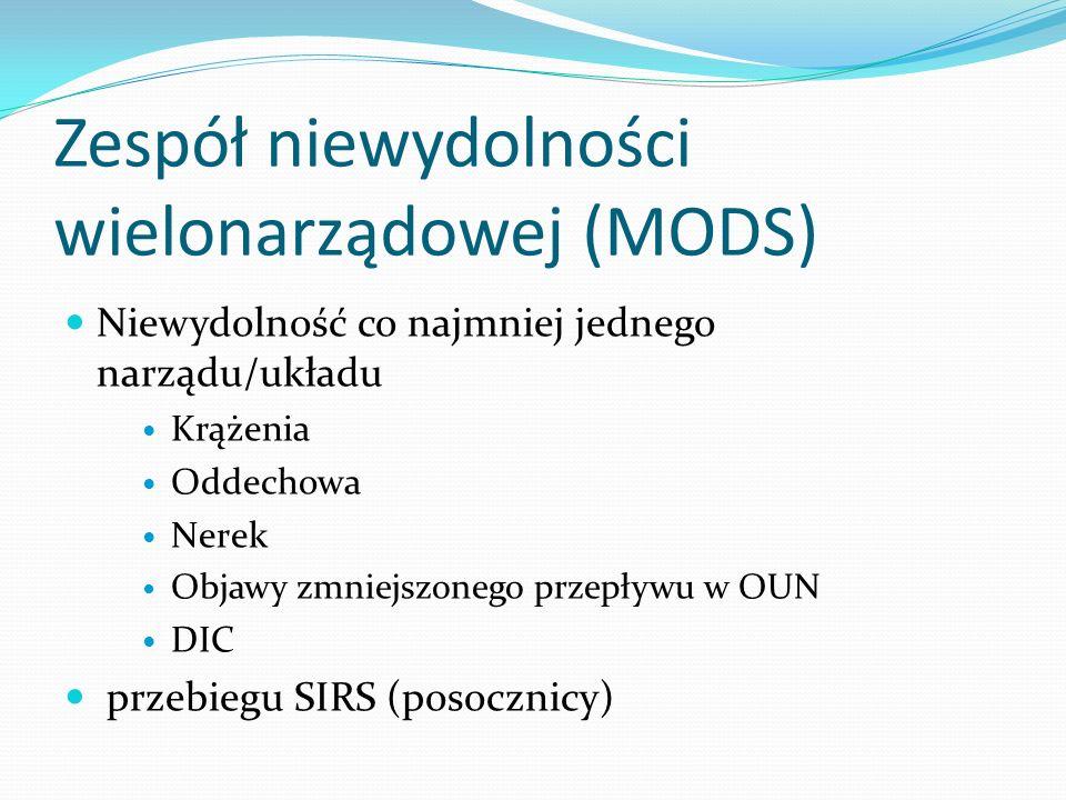 Zespół niewydolności wielonarządowej (MODS)