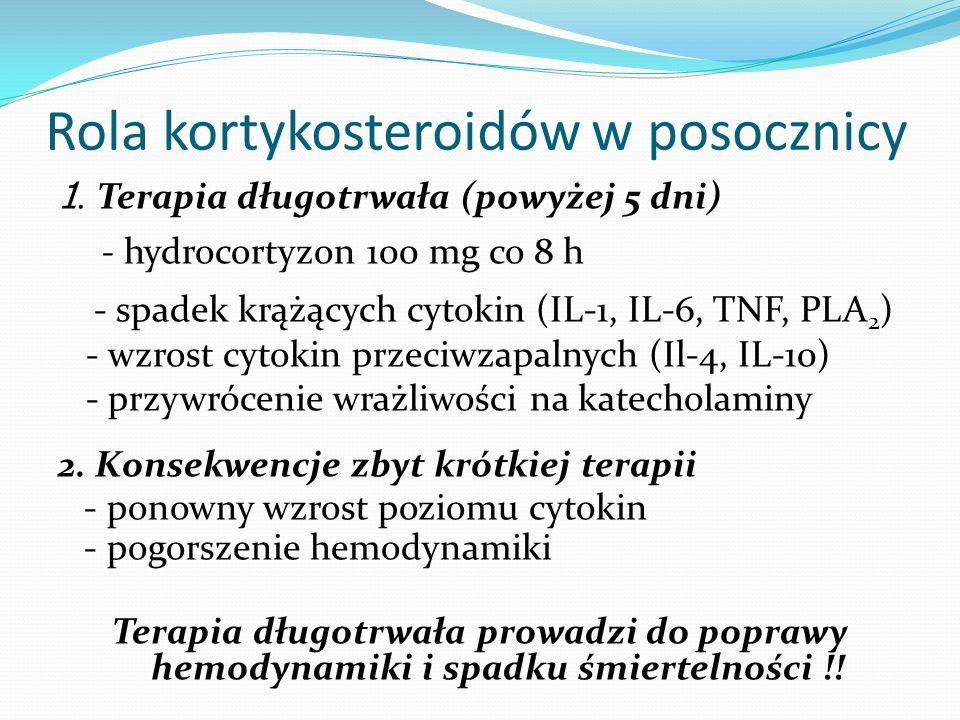 Rola kortykosteroidów w posocznicy
