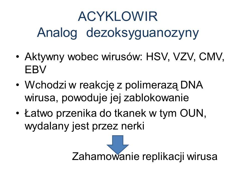 ACYKLOWIR Analog dezoksyguanozyny