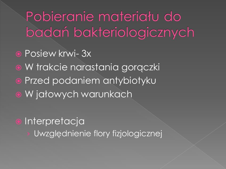 Pobieranie materiału do badań bakteriologicznych