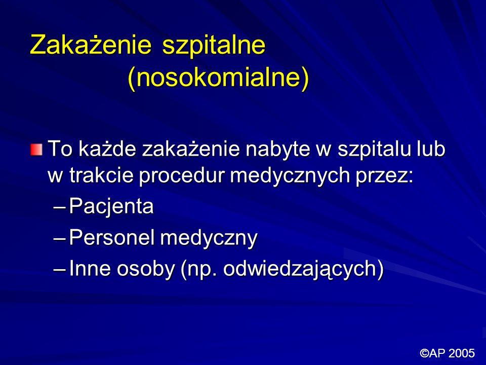 Zakażenie szpitalne (nosokomialne)