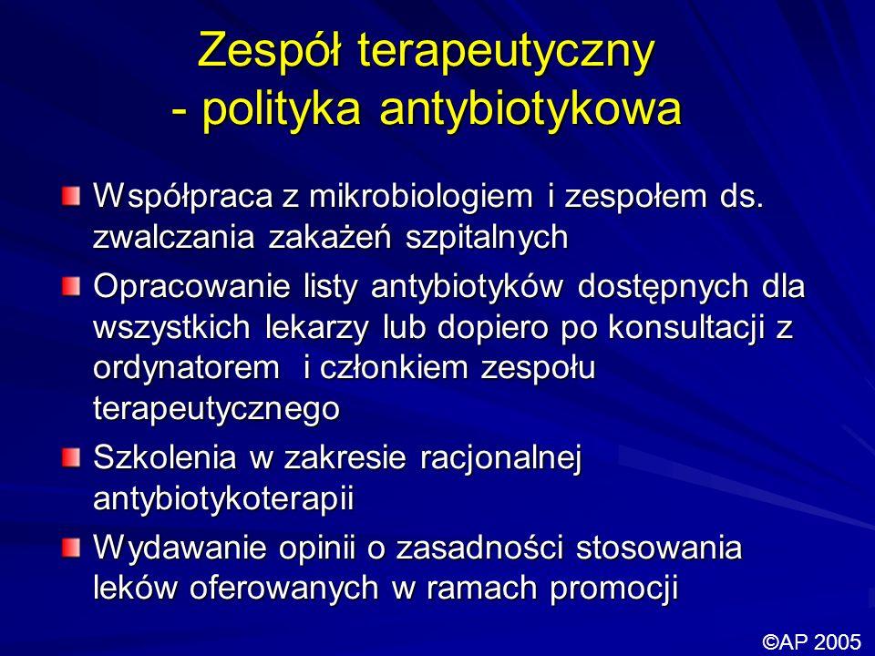 Zespół terapeutyczny - polityka antybiotykowa