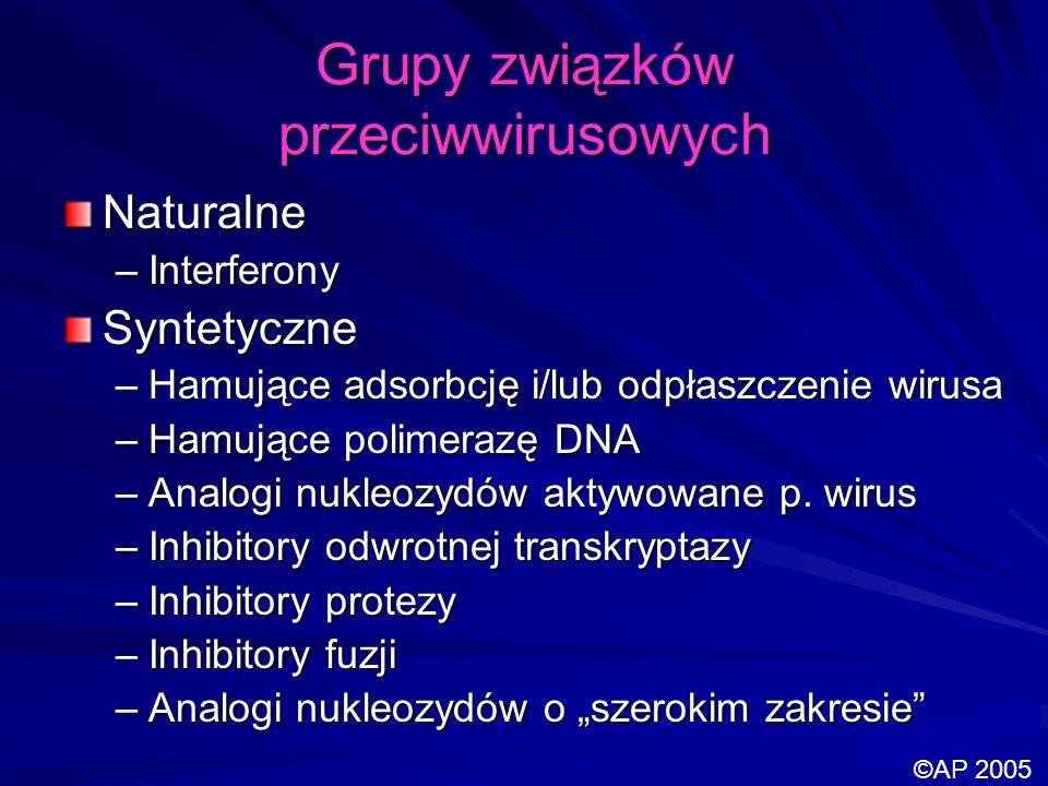 Grupy związków przeciwwirusowych