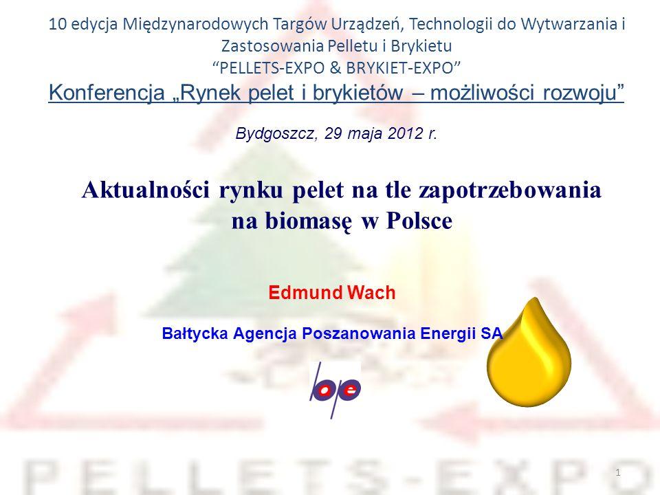 Aktualności rynku pelet na tle zapotrzebowania na biomasę w Polsce