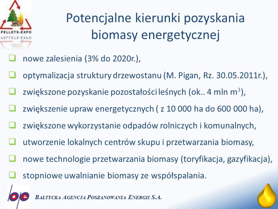 Potencjalne kierunki pozyskania biomasy energetycznej