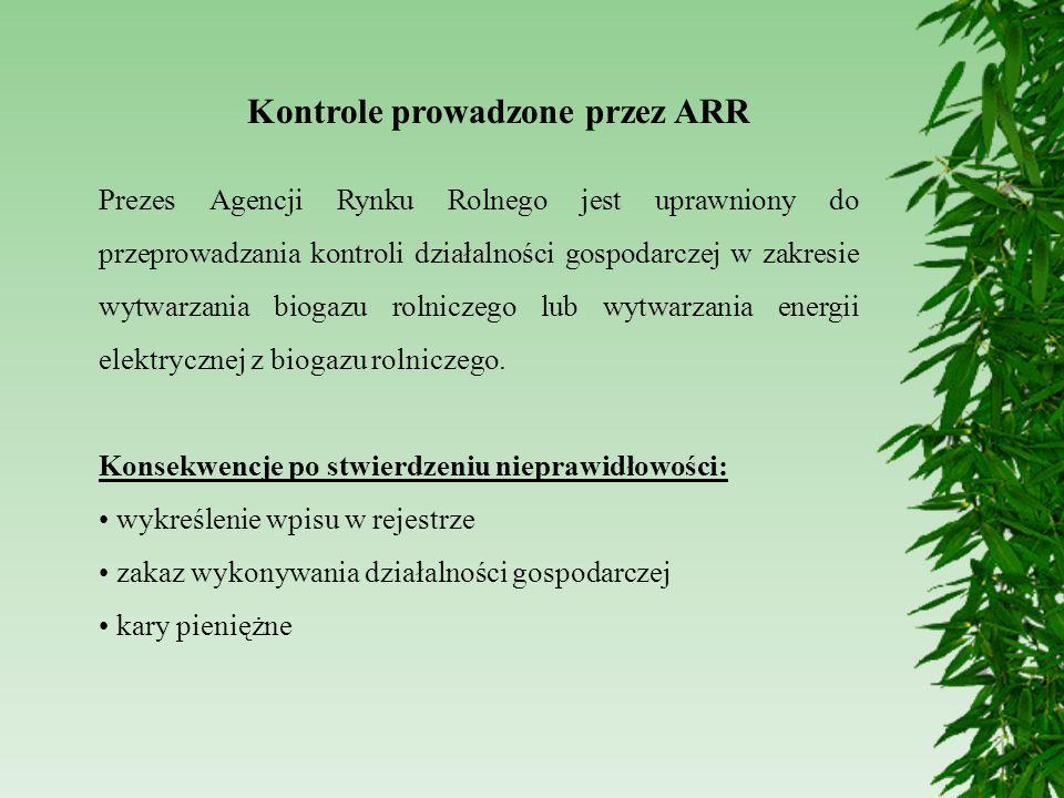 Kontrole prowadzone przez ARR