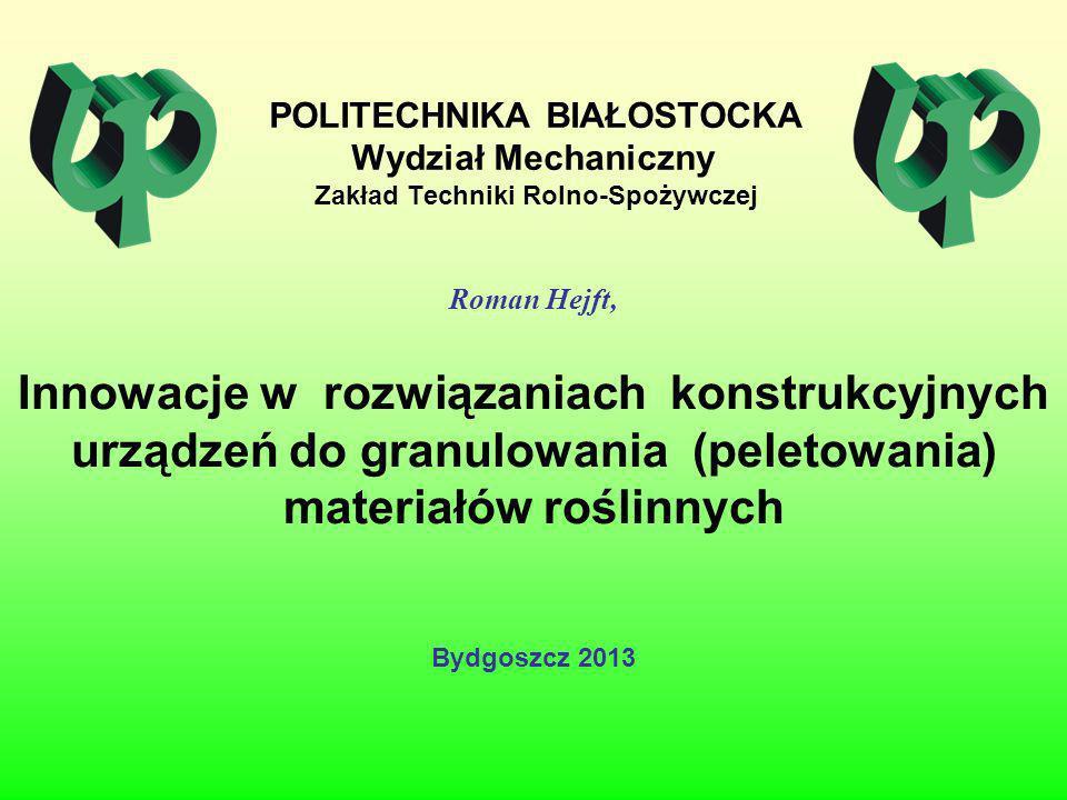 POLITECHNIKA BIAŁOSTOCKA Wydział Mechaniczny