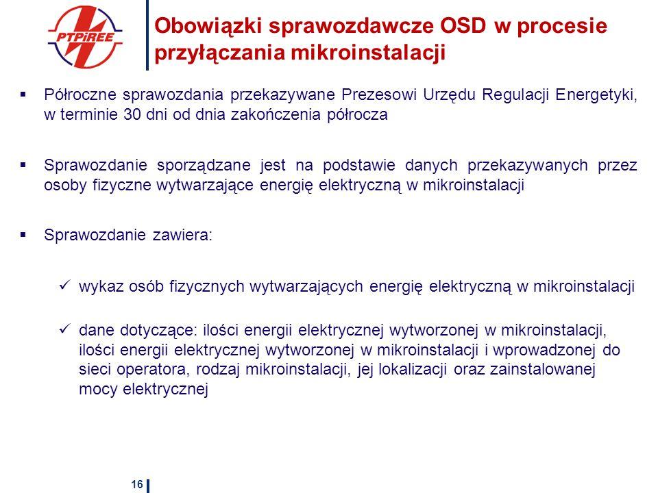 Obowiązki sprawozdawcze OSD w procesie przyłączania mikroinstalacji