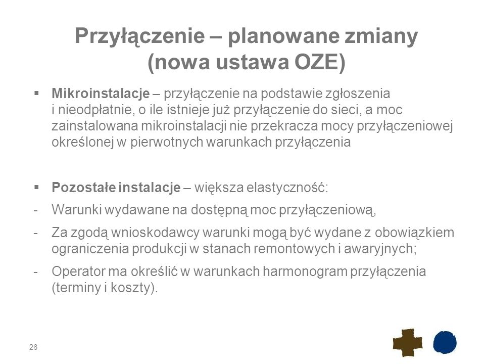 Przyłączenie – planowane zmiany (nowa ustawa OZE)