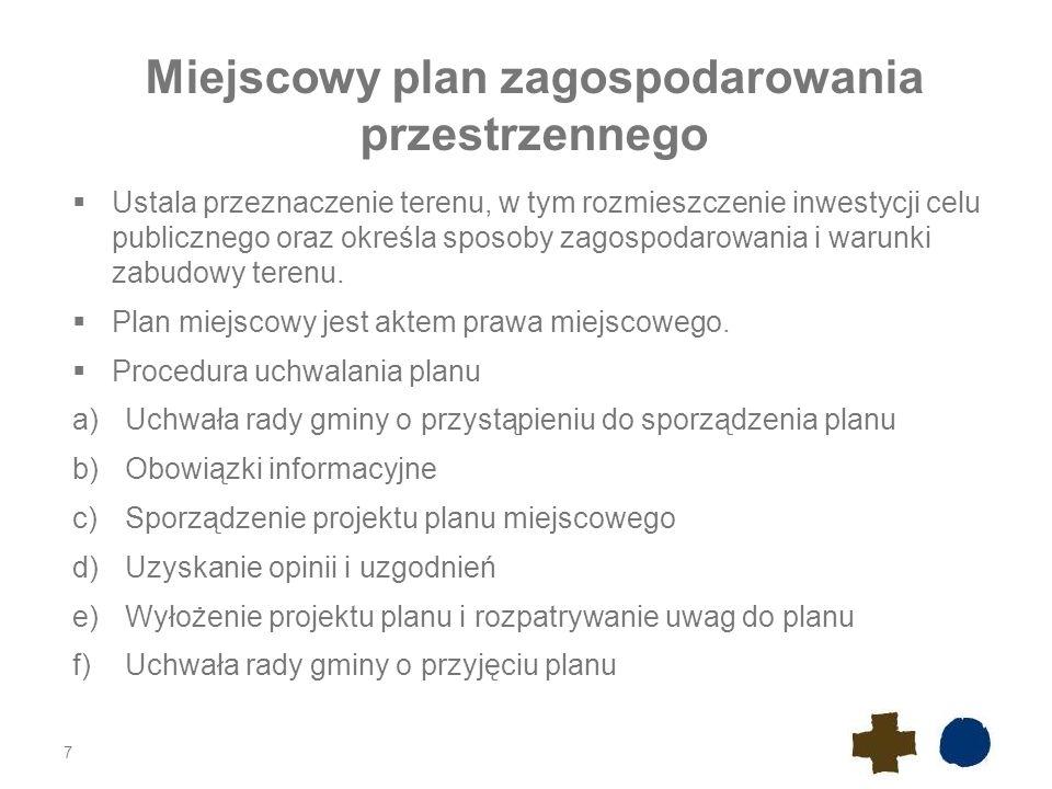 Miejscowy plan zagospodarowania przestrzennego