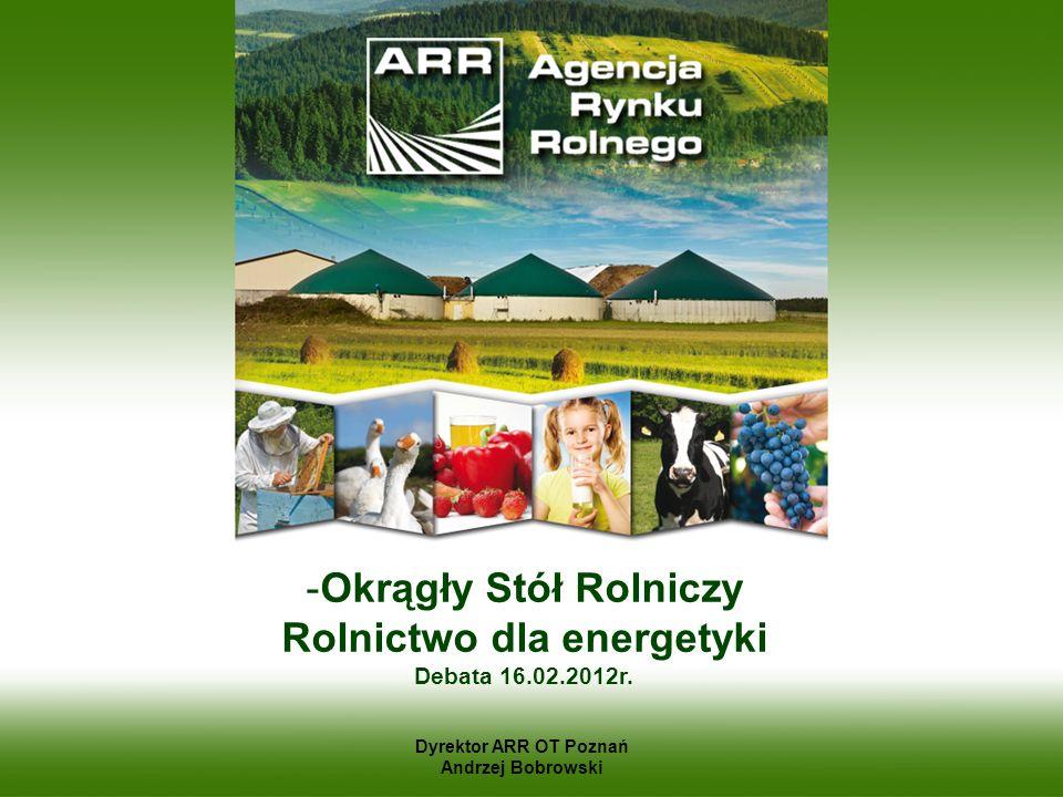 Okrągły Stół Rolniczy Rolnictwo dla energetyki Debata 16.02.2012r.