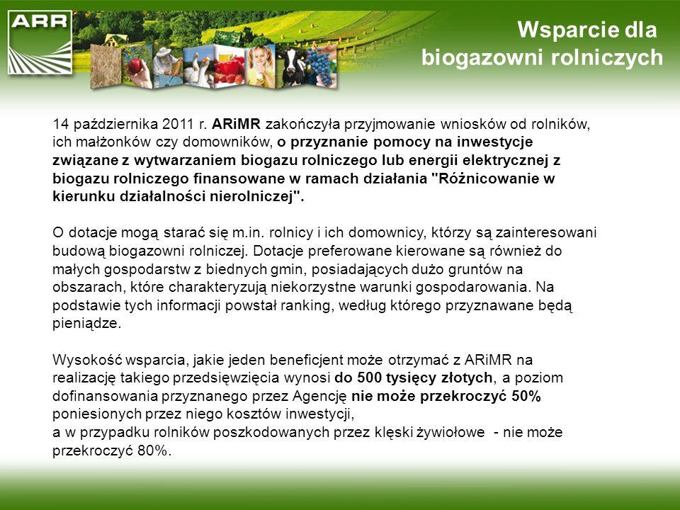 biogazowni rolniczych