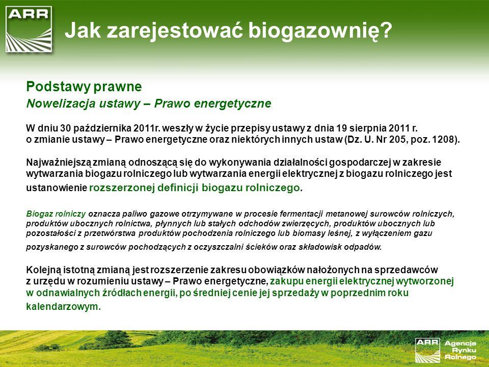Jak zarejestować biogazownię
