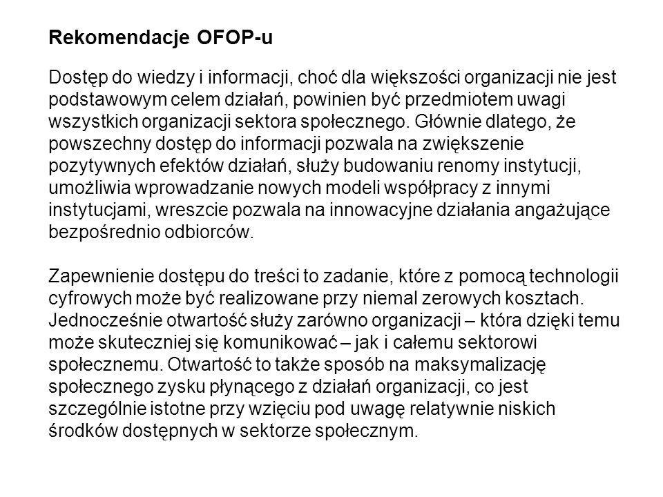 Rekomendacje OFOP-u