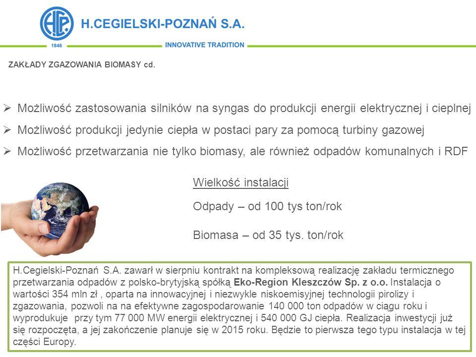 Biomasa – od 35 tys. ton/rok