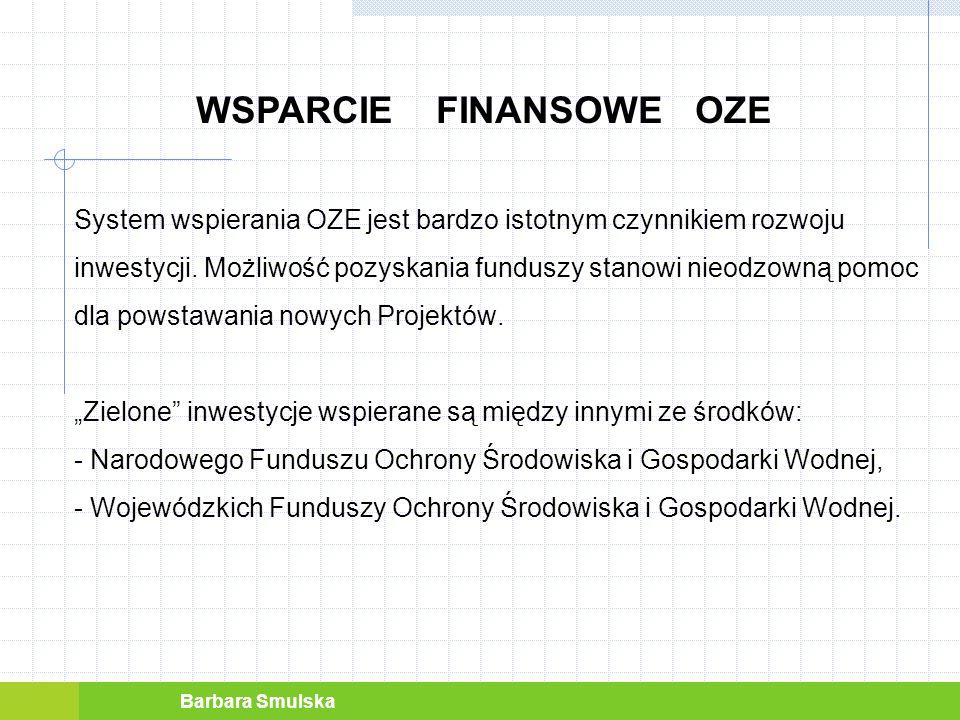 WSPARCIE FINANSOWE OZE