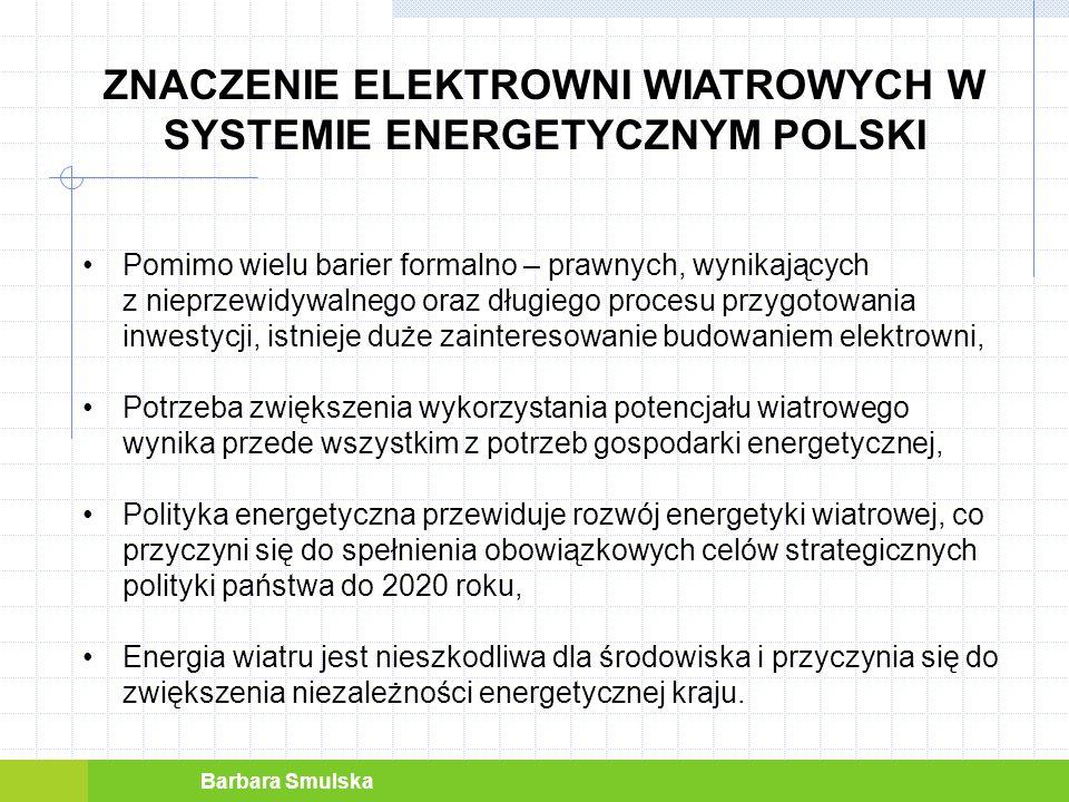 ZNACZENIE ELEKTROWNI WIATROWYCH W SYSTEMIE ENERGETYCZNYM POLSKI