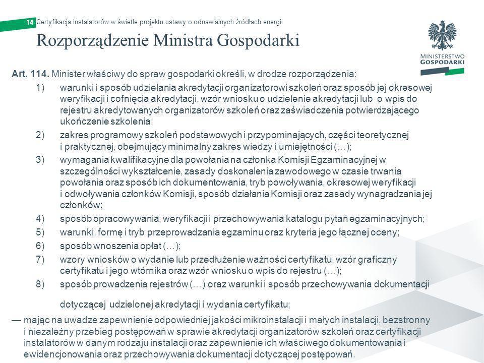 Rozporządzenie Ministra Gospodarki