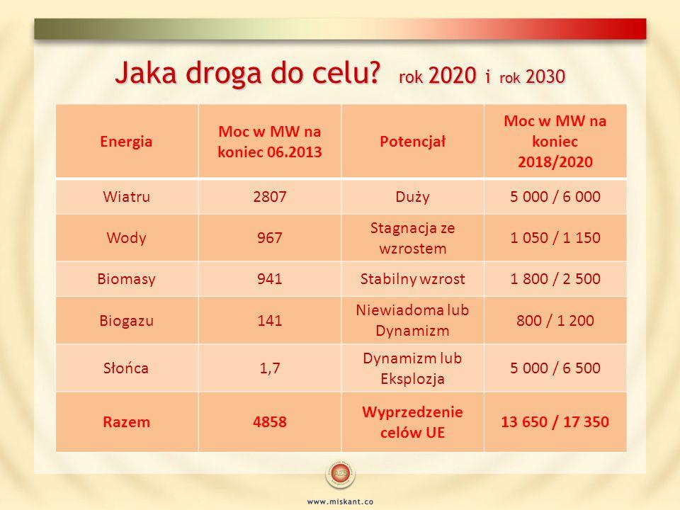 Jaka droga do celu rok 2020 i rok 2030