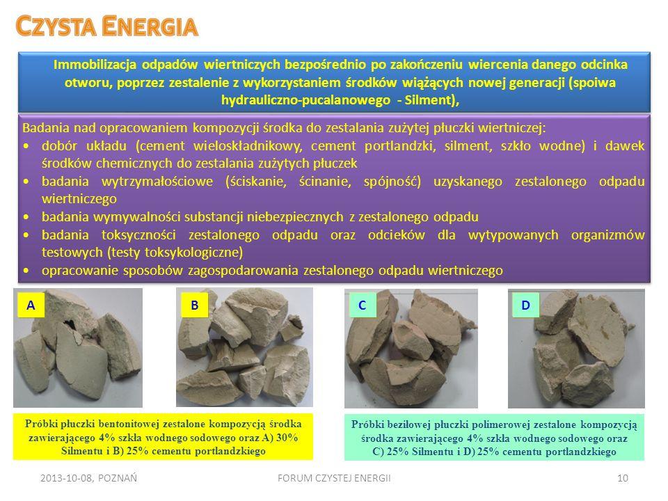 badania wymywalności substancji niebezpiecznych z zestalonego odpadu