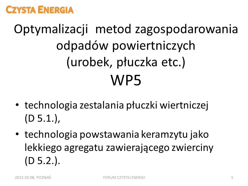 Optymalizacji metod zagospodarowania odpadów powiertniczych (urobek, płuczka etc.) WP5