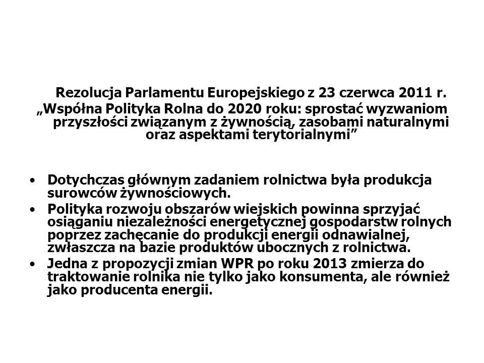 Rezolucja Parlamentu Europejskiego z 23 czerwca 2011 r.