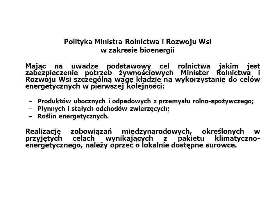 Polityka Ministra Rolnictwa i Rozwoju Wsi