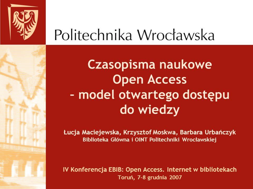 Czasopisma naukowe Open Access – model otwartego dostępu do wiedzy