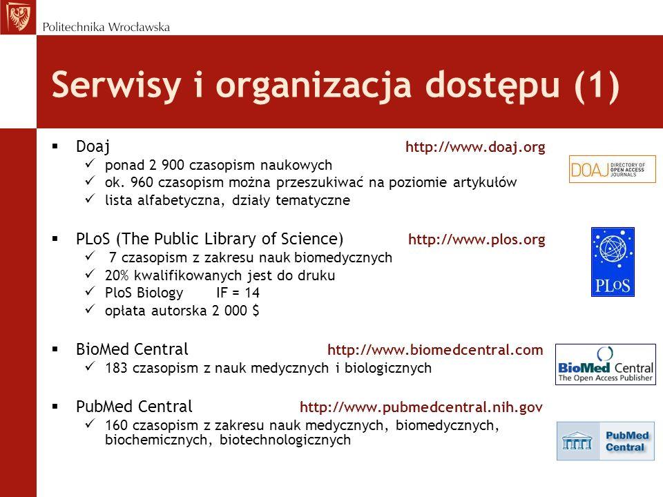 Serwisy i organizacja dostępu (1)