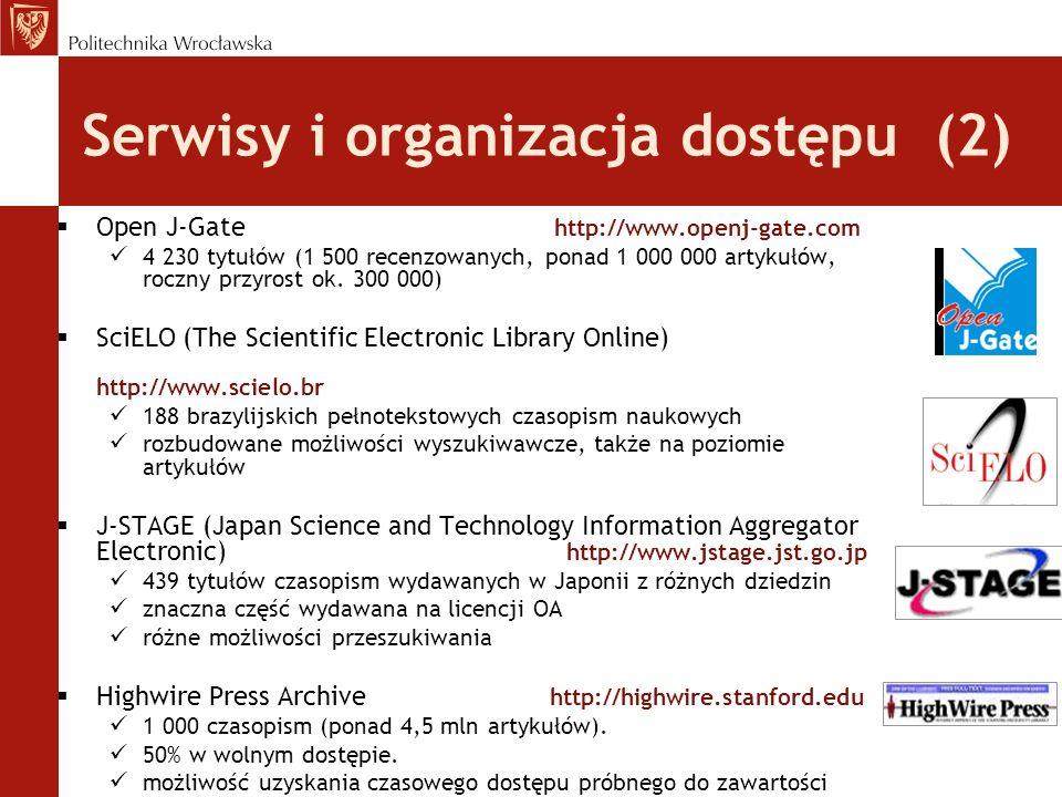 Serwisy i organizacja dostępu (2)