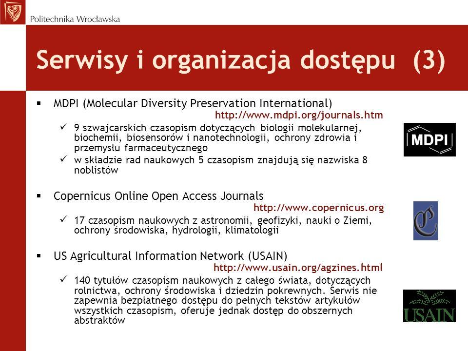 Serwisy i organizacja dostępu (3)
