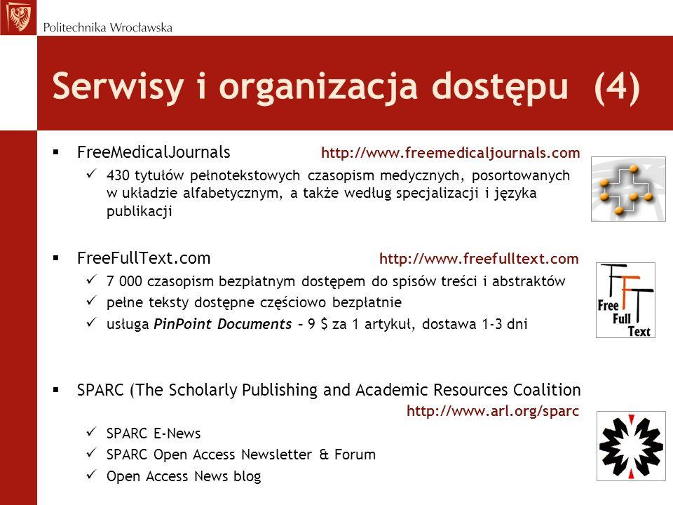 Serwisy i organizacja dostępu (4)