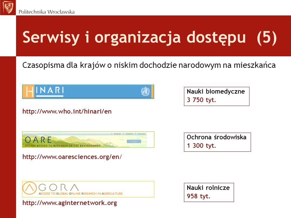Serwisy i organizacja dostępu (5)