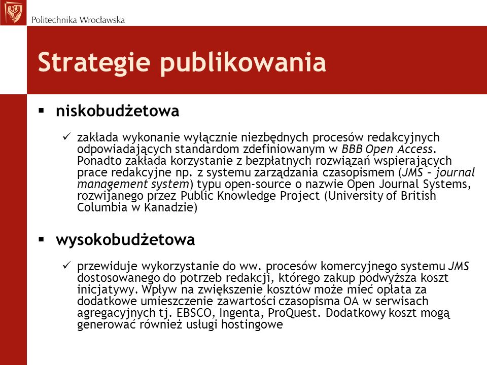 Strategie publikowania