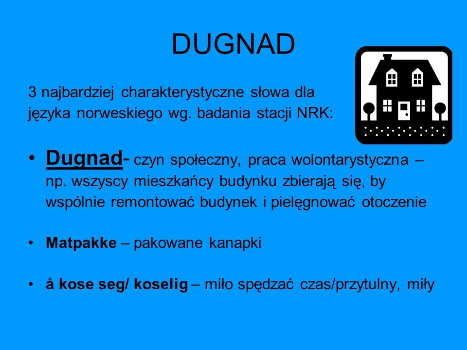 DUGNAD Dugnad- czyn społeczny, praca wolontarystyczna –