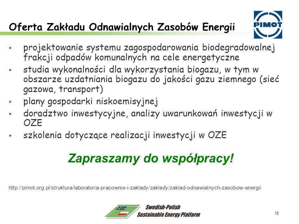Oferta Zakładu Odnawialnych Zasobów Energii