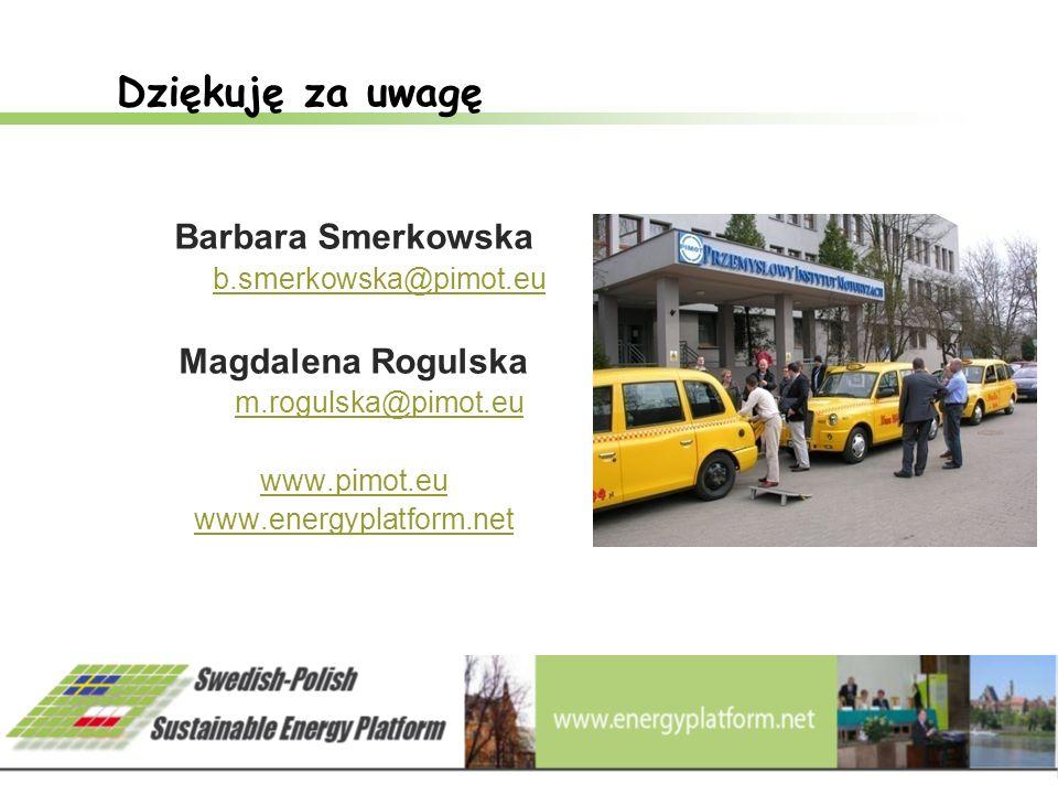 Dziękuję za uwagę Barbara Smerkowska Magdalena Rogulska