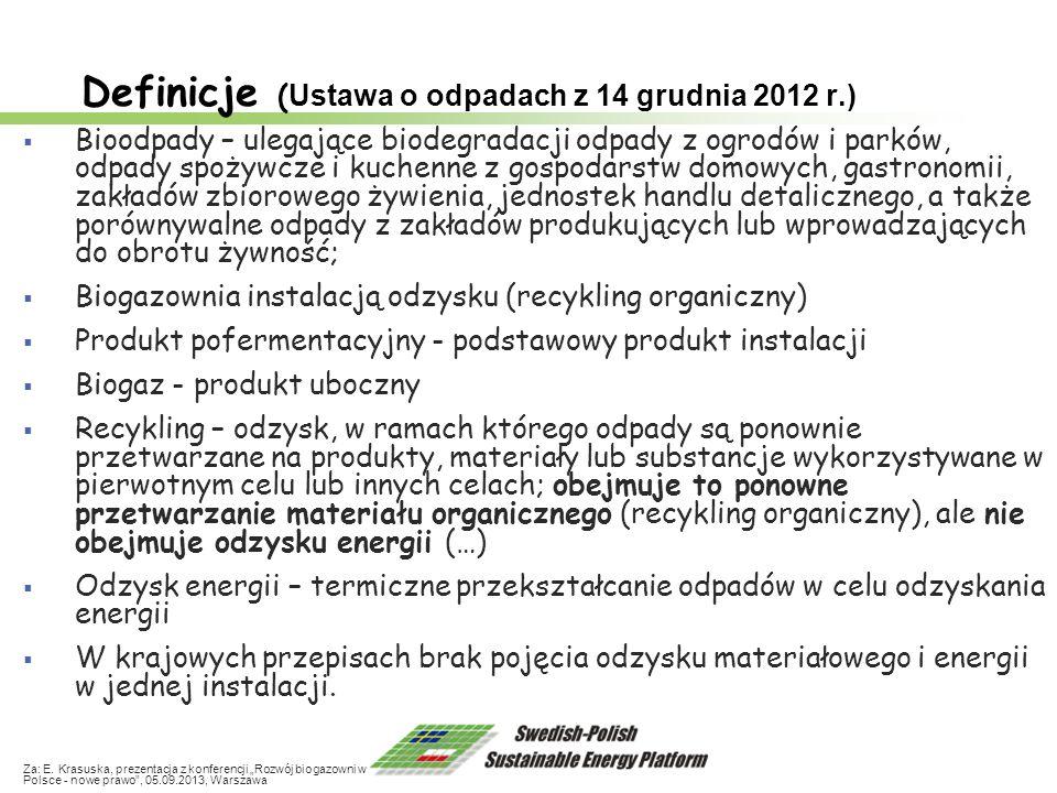Definicje (Ustawa o odpadach z 14 grudnia 2012 r.)