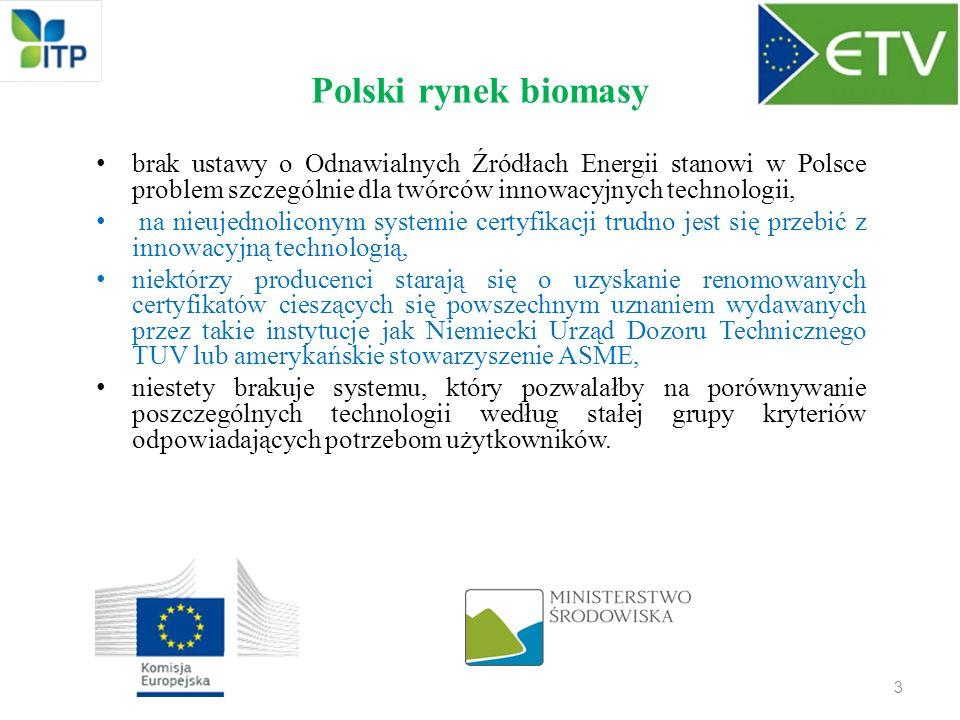 Polski rynek biomasy brak ustawy o Odnawialnych Źródłach Energii stanowi w Polsce problem szczególnie dla twórców innowacyjnych technologii,