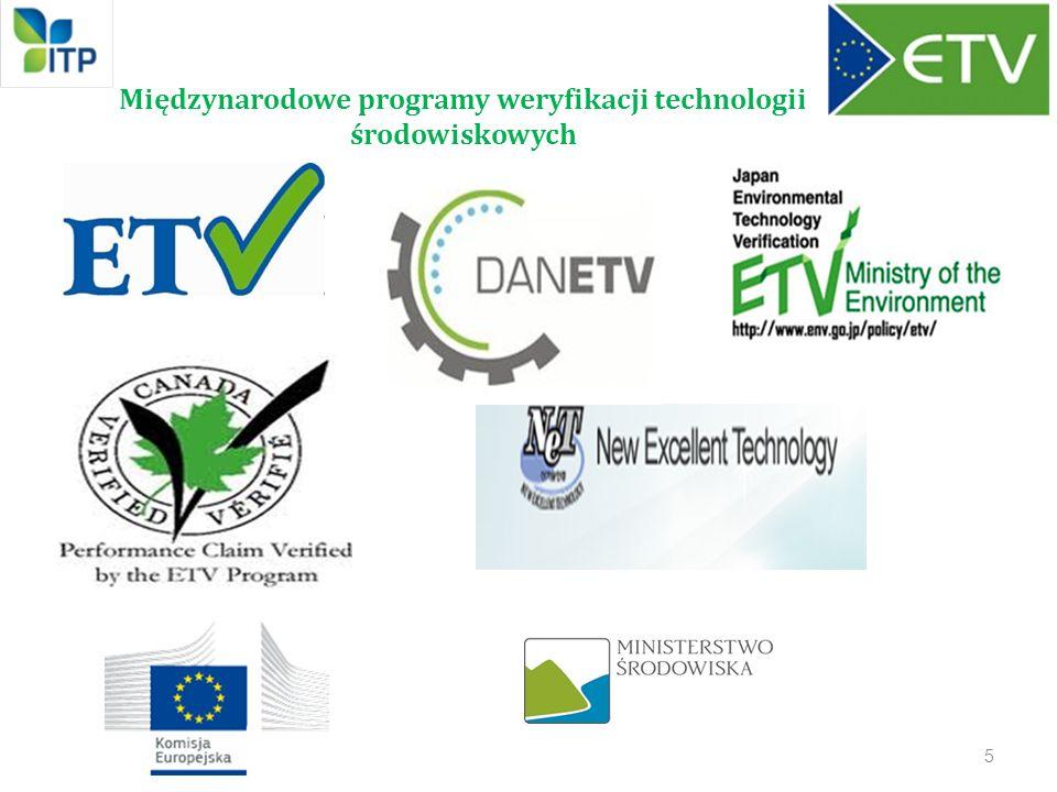 Międzynarodowe programy weryfikacji technologii środowiskowych