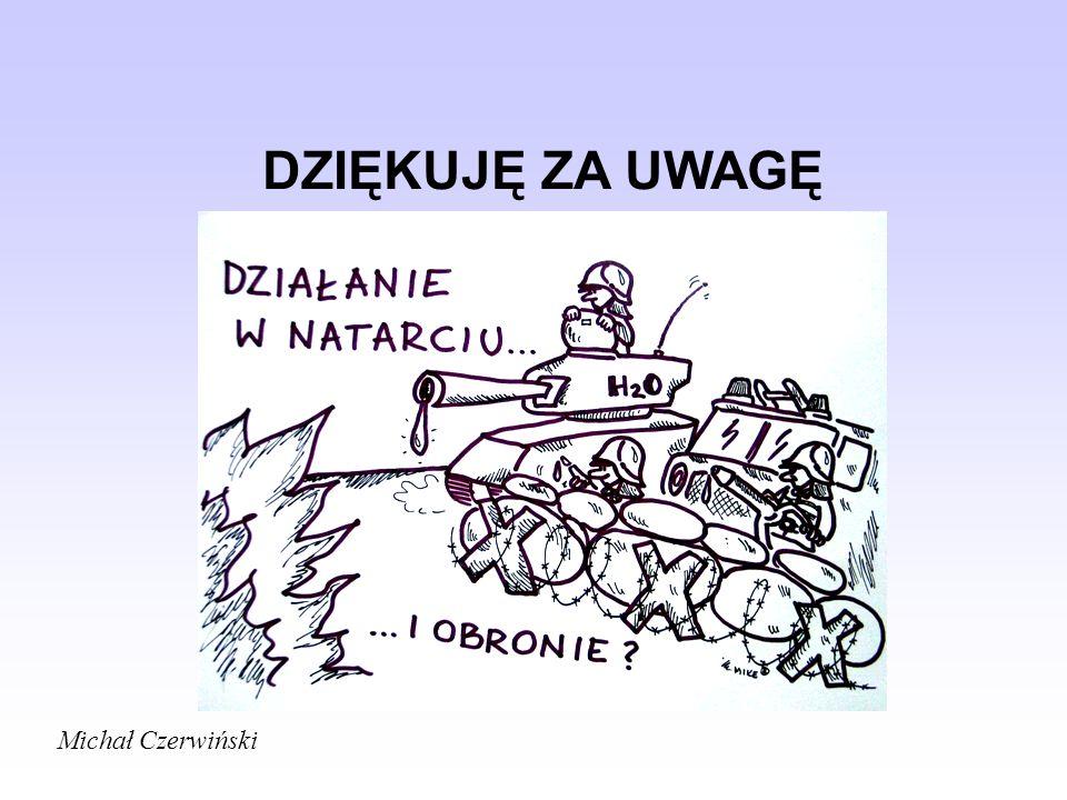 DZIĘKUJĘ ZA UWAGĘ Michał Czerwiński