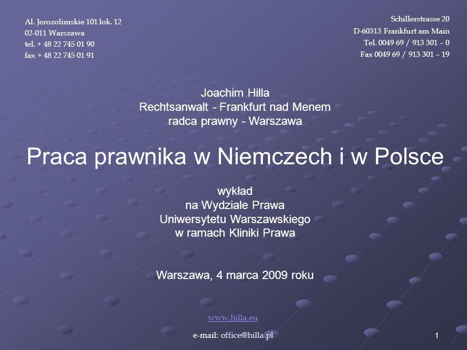 Praca prawnika w Niemczech i w Polsce