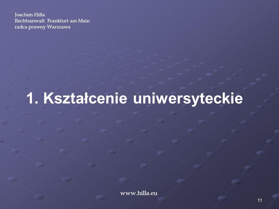 1. Kształcenie uniwersyteckie