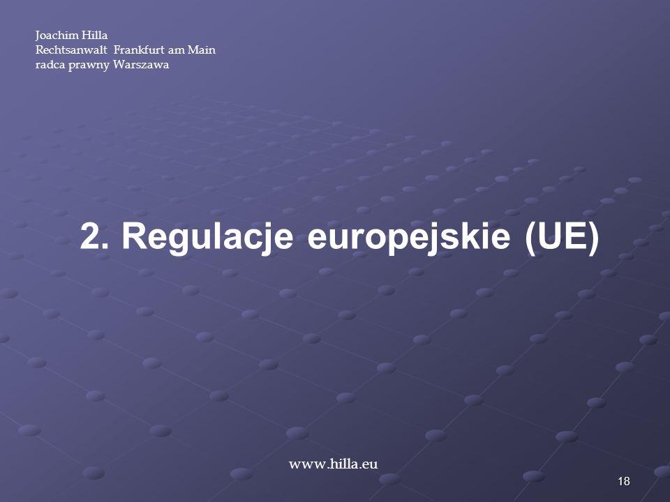 2. Regulacje europejskie (UE)