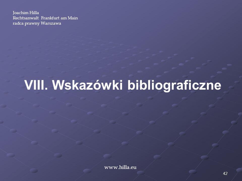 VIII. Wskazówki bibliograficzne